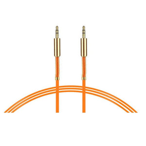 orange 3.5 mm stereo cable 1 metre