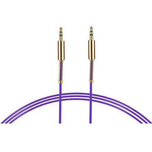 purple 3.5 mm stereo cable 1 metre