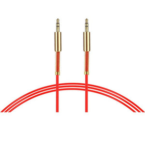 red 3.5 mm stereo aux cable 1 metre