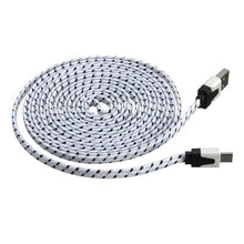 3 metre USB to micro USB cable braided white