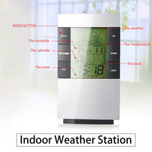 Weather Forecast Station Alarm Clock LCD Screen Temperature Humidity Monitor With Snooze