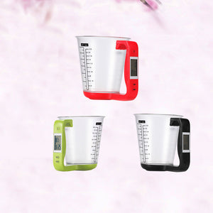 measuring jug with temperature and weight LDC display