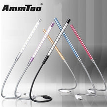 Metal USB LED Light Lamp 10 LEDs Flexible Book Reading Lights for Notebook Laptop PC Computer 6 Colors