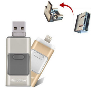 USB flash drive with micro USB connector