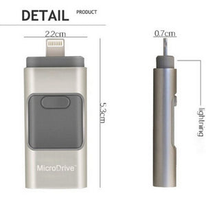 USB flash drive with Apple Lightning connector dimensions