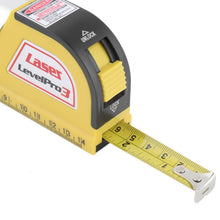 tape measure with laser level