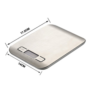 LCD Digital Kitchen Scale 5Kg dimensions
