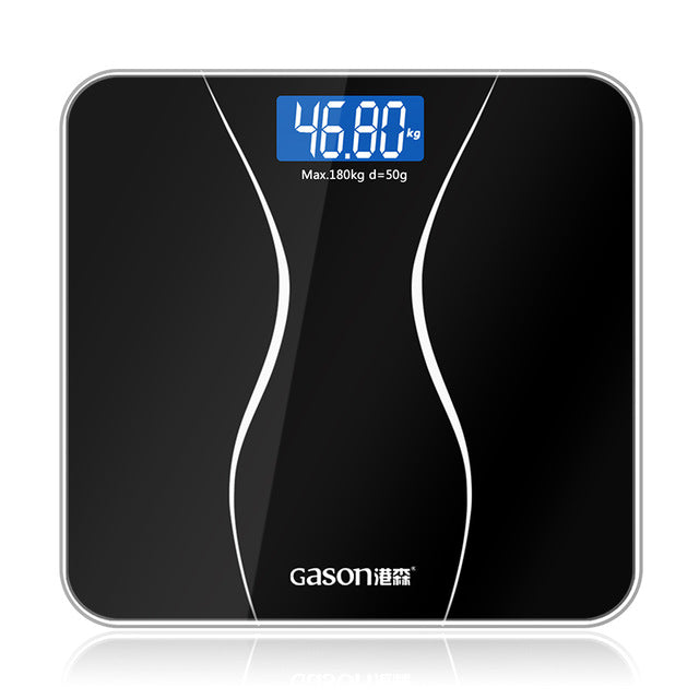 digital bathroom scales in black