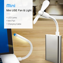 USB laptop light and portable battery pack USB fan