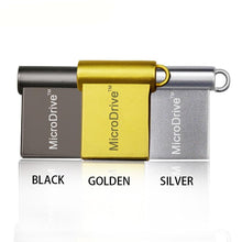 miniature USB 2.0 flash drive black gold silver