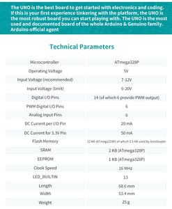 Arduino UNO micro-controller specifications