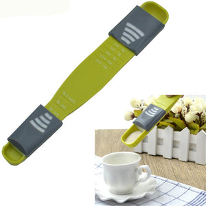 8 sized adjustable measuring spoon with cup