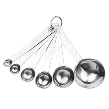 6pcs Stainless Steel Measuring Spoons Cups Measuring Set 6 sizes Spoons Baking Cooking Tools