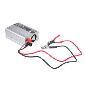 12 volt to 220 volt inverter 500 watts with 2 DC cables and alligator clips