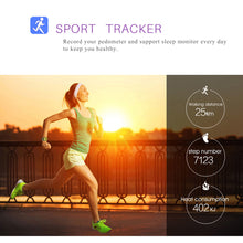Sports smartwatch with runner and data