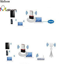 USB WiFi network adaptor for PC or laptop