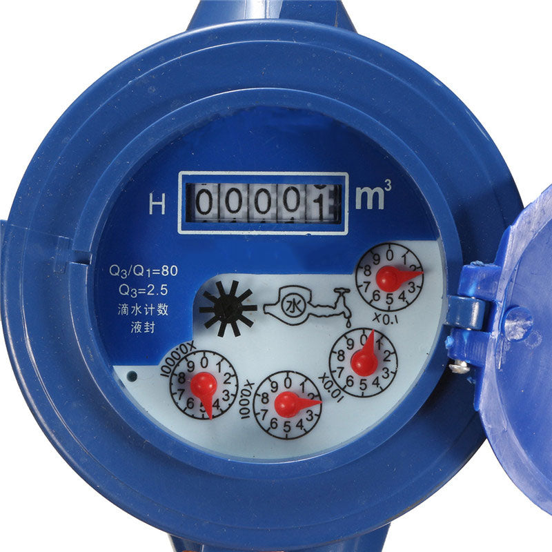 water meter measuring cubic metres with 5 digit display
