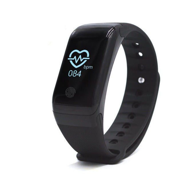 Smart Bracelet Heart rate Monitor Pedometer Waterproof Health Fitness Wearable black