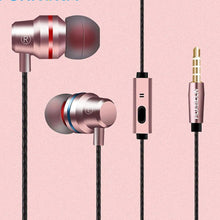 Metal earbud headphones with controls and 3.5mm connector