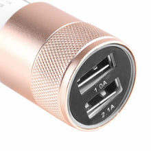 dual USB car charger 1 amp and 2.1 amp sockets