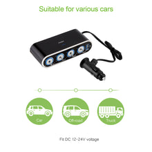 4 Way 120W Power Multi Socket Car Vehicle Auto Cigarette Lighter Socket and USB charger