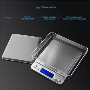 UEETEK 500g/0.01g Digital Pro Pocket Scale Kitchen Food Scale