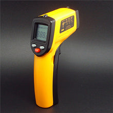 Handheld Laser Temperature Gun showing display