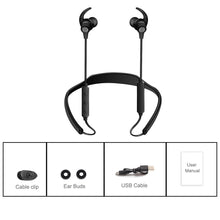 Bluetooth sports ear buds with controls and charge cable
