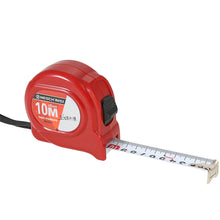 10 metre measuring tape in red