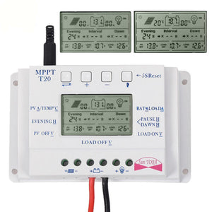 20A 12V/24V MPPT Solar Panel Battery Regulator Charge Controller