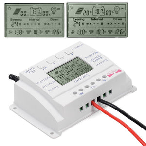 solar MPPT controller, battery charger and load controller with LCD display