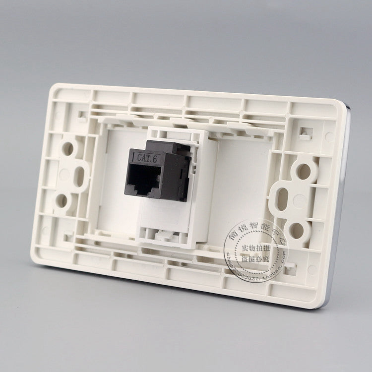 wall-plate with single RJ45 network socket