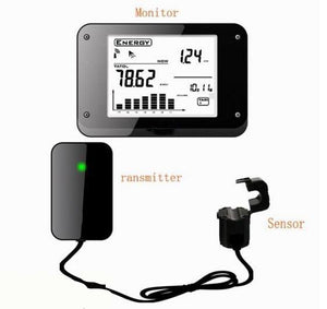 wireless energy meter with current clamp sensor