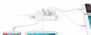 ORICO 20W 4 Port USB Charger for Your Smartphone and Tablet. Cable choice EU / AU / US / UK