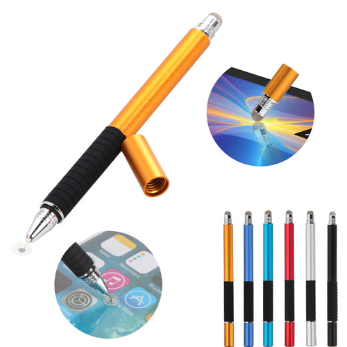 stylus and pen in orange, blue, red, white and black