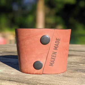 Maxen Made - Leather Coffee Sleeve