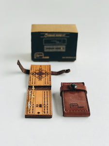 TogetherMade Leather Travel Cribbage Board