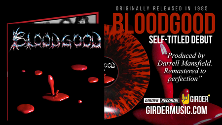 BLOODGOOD REMASTERED SELF-TITLED ON RED VINYL WITH BLACK SPLATTER
