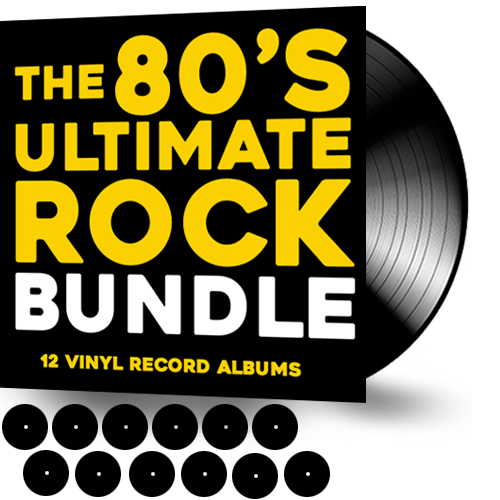80'S ULTIMATE ROCK BUNDLE ***12 VINYL RECORDS + FREE SHIPPING