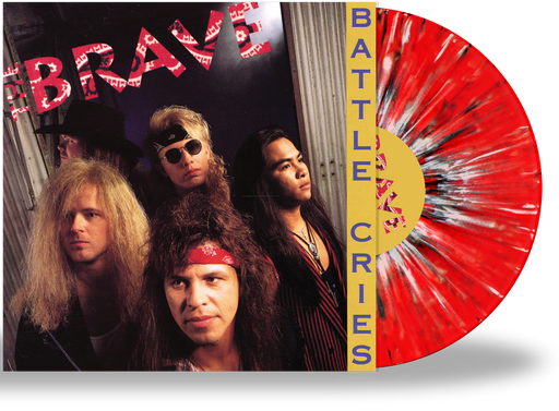 THE BRAVE - BATTLE CIRES (RED, BLACK, WHITE SPLATTER VINYL w/2-SIDED PRINTED SLEEVE - Christian Rock, Christian Metal