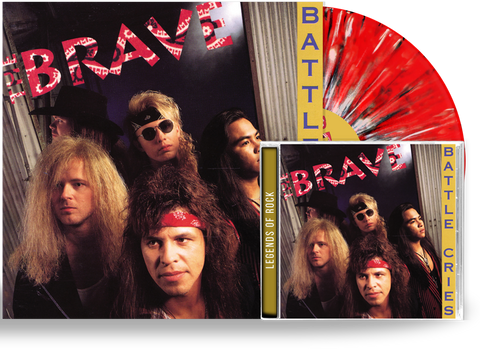 THE BRAVE - BATTLE CIRES (RED, BLACK, WHITE SPLATTER) VINYL + CD