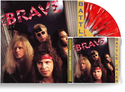 THE BRAVE - BATTLE CRIES (RED, BLACK, WHITE SPLATTER) VINYL + CD - Christian Rock, Christian Metal