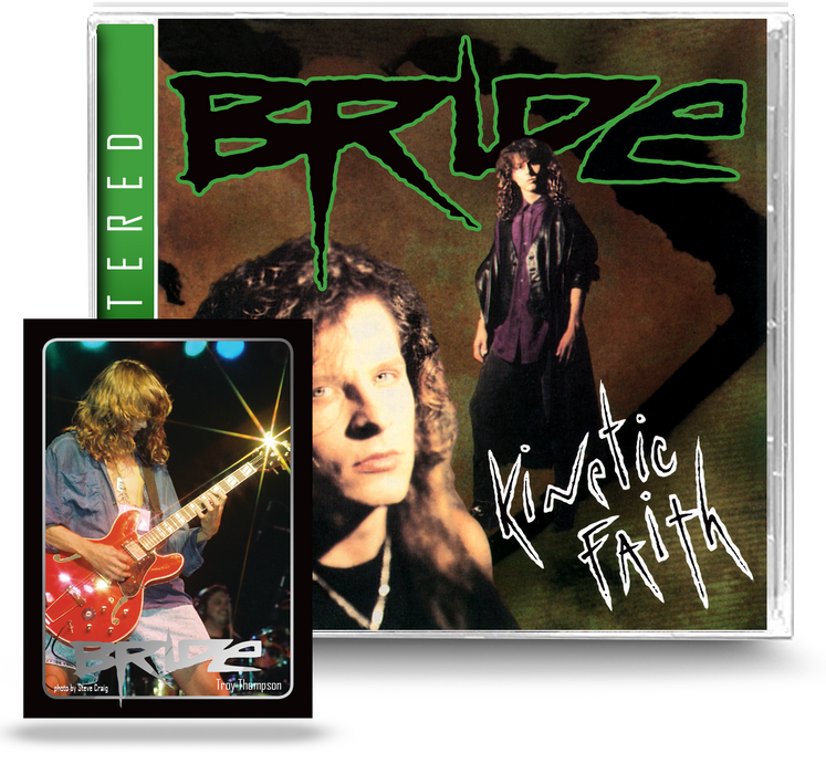 Bride - Kinetic Faith (CD) Remastered, Ltd. Ed. Trading Card - 2021 Girder Records
