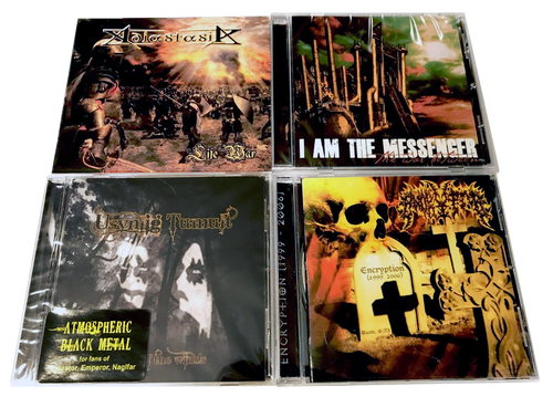 4 CHRISTIAN BLACK METAL CDS *(FREE SHIPPING) ENCRYPTOR, ADASTASIA, I AM THE MESSENGER. FOR ANTESTOR FANS.