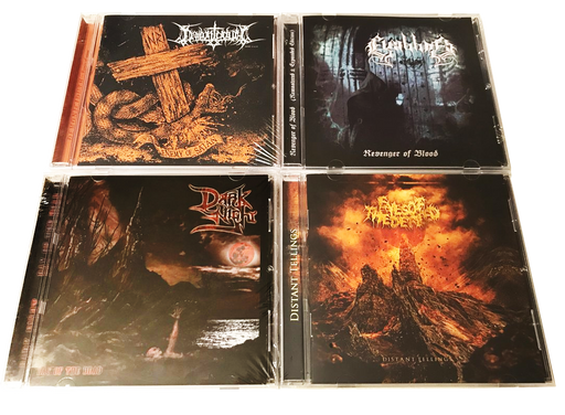 4 EXTREME CHRISTIAN METAL * DARK NIGHT, ELIGIBBOR, EYES OF THE DEFILED, DOMONOCIDUTH - Christian Rock, Christian Metal