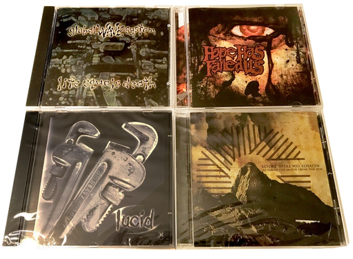 4 CHRISTIAN ROCK CDS - * LUCID, GLOBAL WAVE SYSTEM BEFORE THERE WAS ROSLYN. XIAN HARDCORE - Christian Rock, Christian Metal