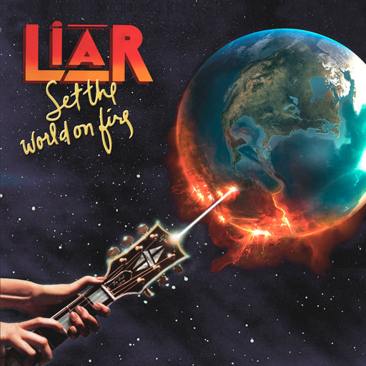 LIAR - Set The World On Fire (CD) Numbered and AUTOGRAPHED!!!
