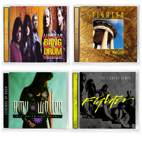Fighter 4 Album Bundle (CDs) 2019 Bang the Drum, The Waiting, Demos & Hit Me in the Heart