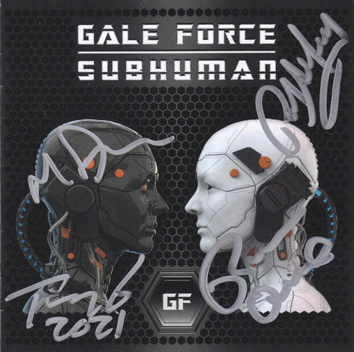 GALE FORCE - SUBHUMAN (*NEW-CD, 2021) (BARREN CROSS + DIO) ***Autographed Copies - Only a Few Left!