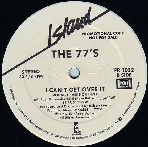 The 77's I Can't Get Over It (Single) Promo Vinyl